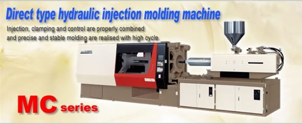 Direct type hydraulic injection molding machine